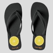 Orange Slice Flip Flops
