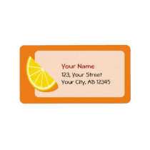 Orange Slice Label