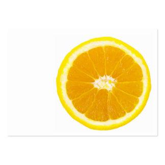 orange slice large business card