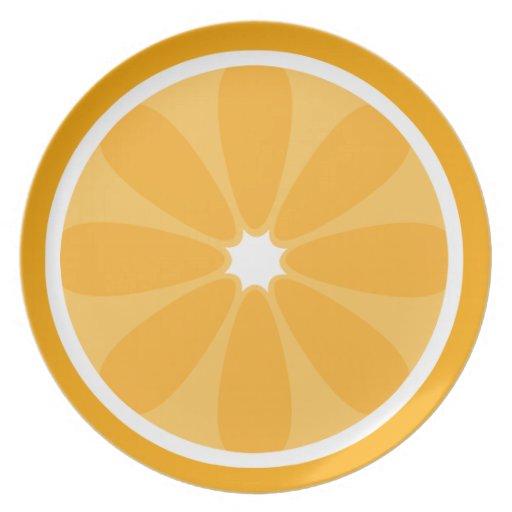 Orange Slice Melamine Plate