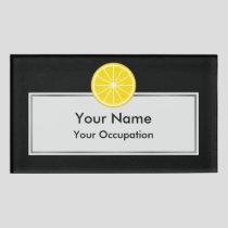 Orange Slice Name Tag