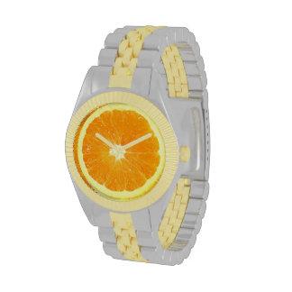 Orange Slice Novelty Food Wristwatches