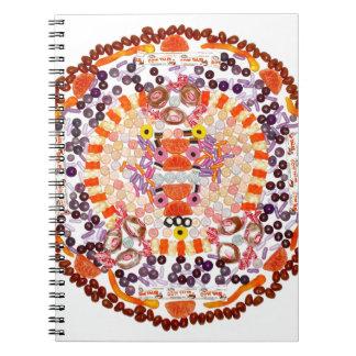 """Orange Slice of Heaven"" Candala Spiral Notebooks"