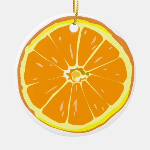 Orange slice ornament
