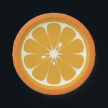 "Orange Slice Paper Plate<br><div class=""desc"">Paper plates designed to look like the slice of an orange. Perfect for summer picnics.</div>"