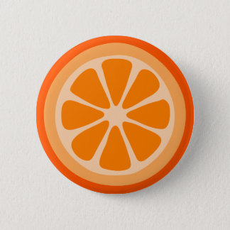 Orange Slice Pinback Button
