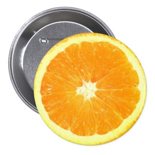 Orange Slice Pinback Button
