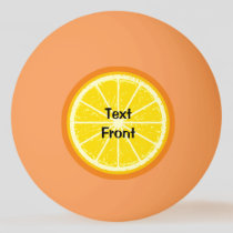 Orange Slice Ping Pong Ball