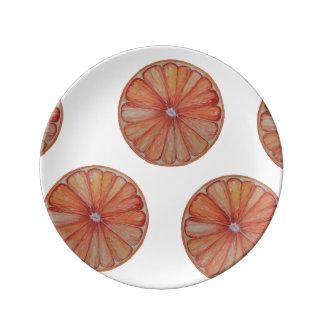 Orange Slice Porcelain Plate