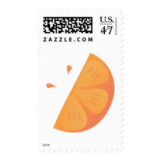 Orange Slice Postage Stamp
