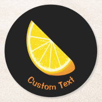Orange Slice Round Paper Coaster