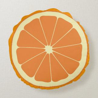 Orange Slice Round Pillow
