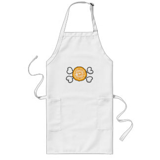 orange slice Skull and Crossbones Long Apron