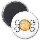 orange slice Skull and Crossbones Magnets