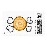 orange slice Skull and Crossbones Stamps