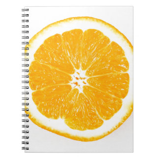 Orange slice spiral notebook