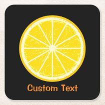 Orange Slice Square Paper Coaster