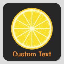Orange Slice Square Sticker