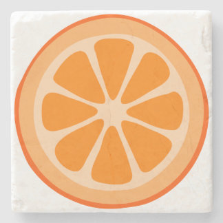 Orange Slice Stone Coaster