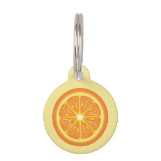 Orange Slice With Name & Number Pet ID Tag