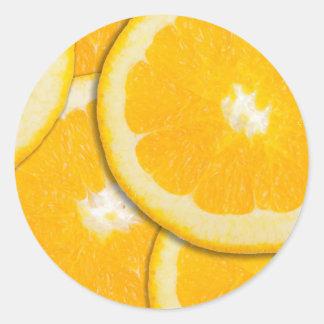 Orange slices classic round sticker