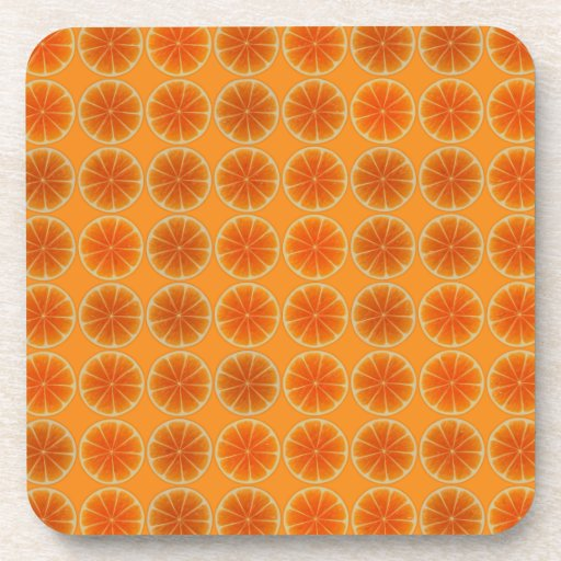 Orange Slices Collage Drink Coasters