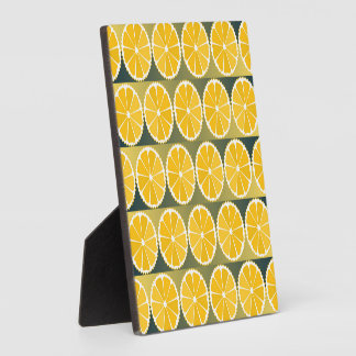 Orange slices pattern plaque