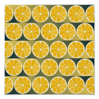 Orange slices pattern print
