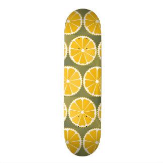 Orange slices pattern custom skateboard