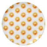 Orange Slices Polka Dots Plate