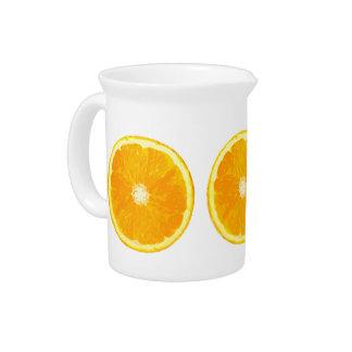 Orange slices - Retro-Modern Beverage Pitcher