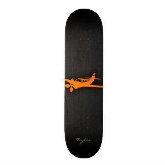 Orange Small Airplane Skateboard Deck