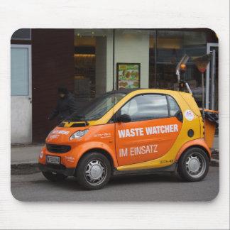 Orange Smart Car Mouse Pad