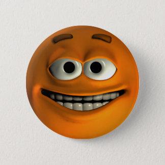 Orange Smiley Button
