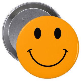 Orange Smiley Face Button