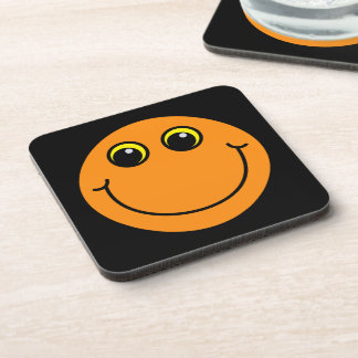Orange Smiley Face Drink Coaster