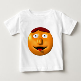 Orange smiley man with his tounge out baby T-Shirt