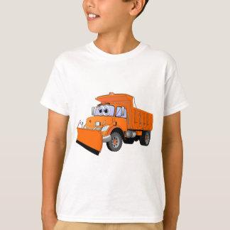 Orange Snow Plow Cartoon T-Shirt