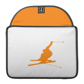 Orange Snow Ski Sleeve For MacBook Pro