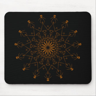 Orange snowflake mousepad