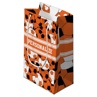 Orange Soccer Ball Collage Small Gift Bag