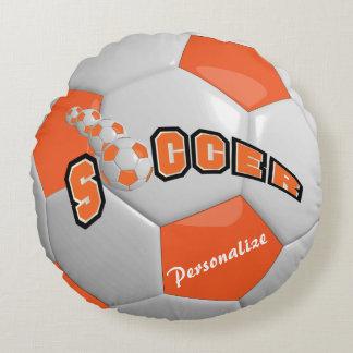 Orange Soccer Ball | DIY Name Round Pillow