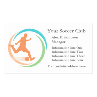 Orange Soccer Circle Logo Business Template Double-Sided Standard Business Cards (Pack Of 100)