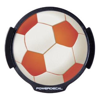 Orange Soccer | Football LED Car Window Decal