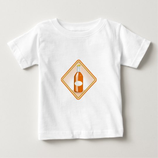 orange soda bottle sunburst retro baby T-Shirt