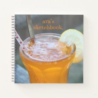 Orange Soda customizable sketch notebook