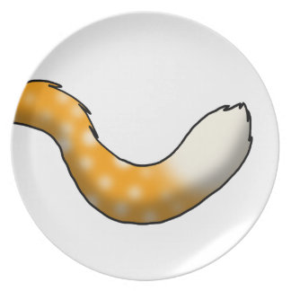 Orange Soda Float Fluffy Hybrid Tail Melamine Plate
