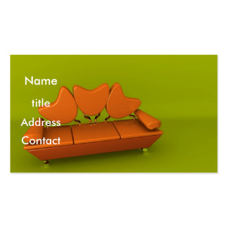 Orange Sofa Business Card