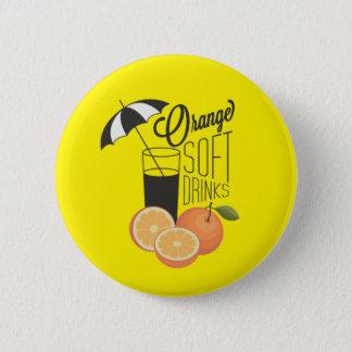 Orange Soft Drinks Button Badge
