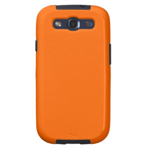 Orange Solid Color Background Template Galaxy SIII Case